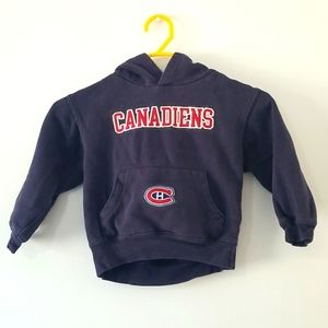 NHL Montreal Canadiens baby boy navy graphic hoodie